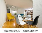 new apartment interior | Shutterstock . vector #580668529