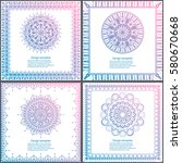 set of cards and invitation...   Shutterstock .eps vector #580670668