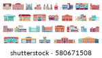 vector set isolated icons... | Shutterstock .eps vector #580671508