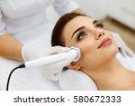 cosmetology. beautiful woman...   Shutterstock . vector #580672333