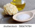 natural ingredients for... | Shutterstock . vector #580674784
