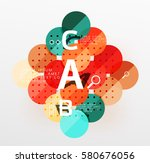 colorful glossy circle... | Shutterstock .eps vector #580676056
