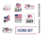 set of icons for the presidents ... | Shutterstock .eps vector #580676968