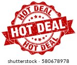 hot deal. stamp. sticker. seal. ... | Shutterstock .eps vector #580678978