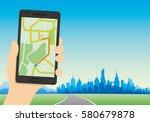 navigation map. | Shutterstock .eps vector #580679878