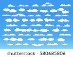 cloud vector icon set white... | Shutterstock .eps vector #580685806