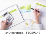 market analyze   pen and... | Shutterstock . vector #58069147