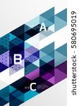 vector geometric abstract... | Shutterstock .eps vector #580695019