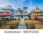 houses along beach avenue  in... | Shutterstock . vector #580701343