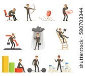 business fail and manager... | Shutterstock .eps vector #580703344