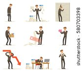 business fail and manager... | Shutterstock .eps vector #580703398