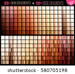 vector mega set of rose and... | Shutterstock .eps vector #580705198