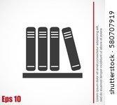 icon of books | Shutterstock .eps vector #580707919
