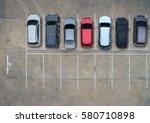 empty parking lots  aerial view. | Shutterstock . vector #580710898