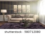 interior with sofa. 3d... | Shutterstock . vector #580712080