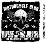 motorcycle tee graphic design | Shutterstock .eps vector #580716160