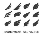 set of vector abstract wings....