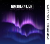 arctic aurora  northern lights... | Shutterstock .eps vector #580733596