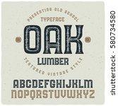 "old school textured font named ""... | Shutterstock .eps vector #580734580"