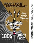 color vintage journalists... | Shutterstock .eps vector #580737973