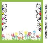 colorful kids frame | Shutterstock .eps vector #580750183