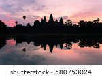The Silhouette Of Angkor Wat...