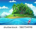 float on the background of the... | Shutterstock .eps vector #580754998