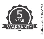 5 year warranty icon on white... | Shutterstock .eps vector #580756264