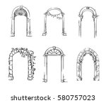 Set Of Arches. Architectural...