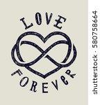 love forever grunge sign card | Shutterstock .eps vector #580758664
