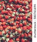 fresh strawberries   Shutterstock . vector #580761694