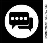 speech bubble icon | Shutterstock .eps vector #580767733