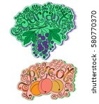 stickers  tags or labels of... | Shutterstock .eps vector #580770370