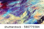 bright artistic splashes.... | Shutterstock . vector #580775584