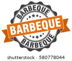 barbeque. stamp. sticker. seal. ... | Shutterstock .eps vector #580778044