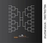 a blank college basketball... | Shutterstock .eps vector #580783786