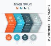 business infographics template... | Shutterstock .eps vector #580783948