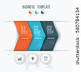 business infographics template... | Shutterstock .eps vector #580784134