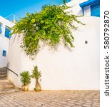 sidi bou said  famouse village... | Shutterstock . vector #580792870