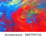 bright red and blue colors... | Shutterstock . vector #580799710