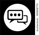 speech bubble icon | Shutterstock .eps vector #580808770