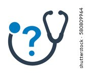 health care question icon | Shutterstock .eps vector #580809964