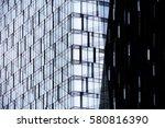 modern glass architecture....   Shutterstock . vector #580816390