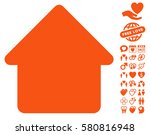 cabin pictograph with bonus... | Shutterstock .eps vector #580816948