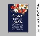 romantic wedding invitation... | Shutterstock .eps vector #580820344
