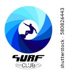 surf club for t shirt graphic... | Shutterstock .eps vector #580826443