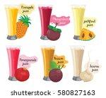 juice vector | Shutterstock .eps vector #580827163