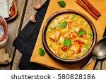 paneer tikka masala. indian... | Shutterstock . vector #580828186