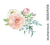 painted watercolor composition... | Shutterstock . vector #580839058