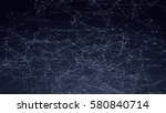 abstract triangles space low... | Shutterstock .eps vector #580840714